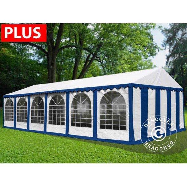 Partytält Plus 6x12 m PVC blå/vit