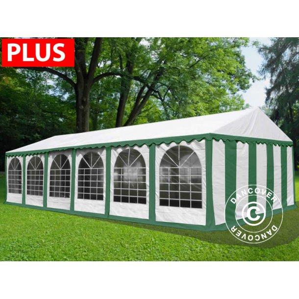 Partytält Plus 6x12 m PVC grön/vit