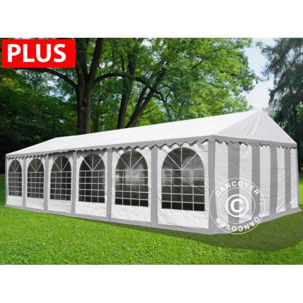 Partytält Plus 6x12 m PVC grå/vit