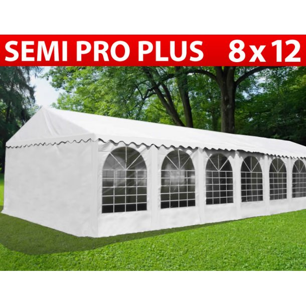 Partytält Semi PRO Plus 8x12 m PVC vit