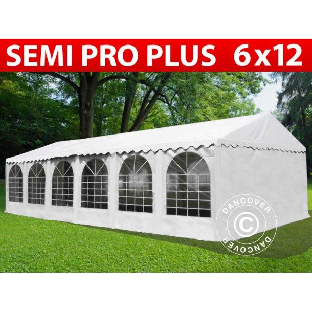Partytält Semi PRO Plus 6x12 m PVC