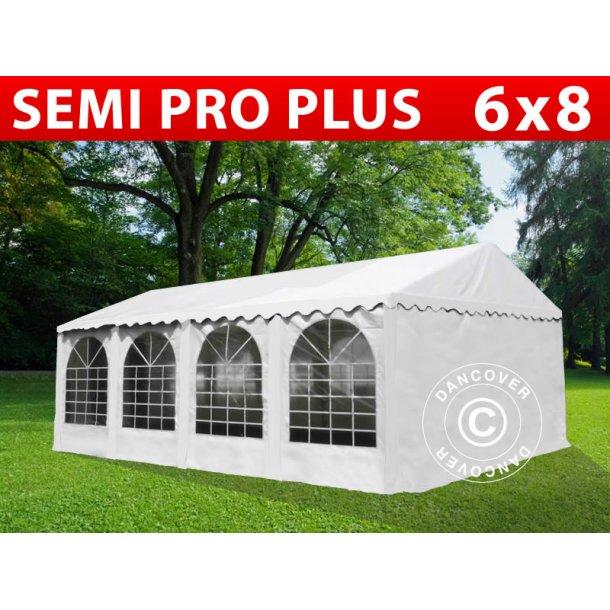Partytält Semi PRO Plus 6x8 m PVC